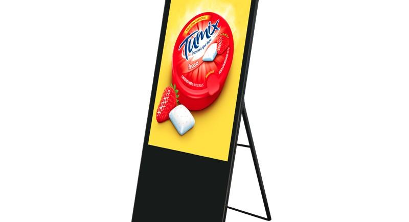 Вертикален екран със стойка