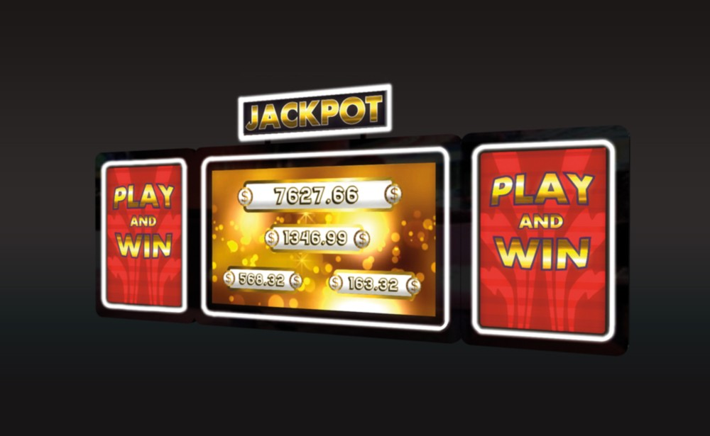 Jackpot Sign with LCD 32 and 19 LCD topper