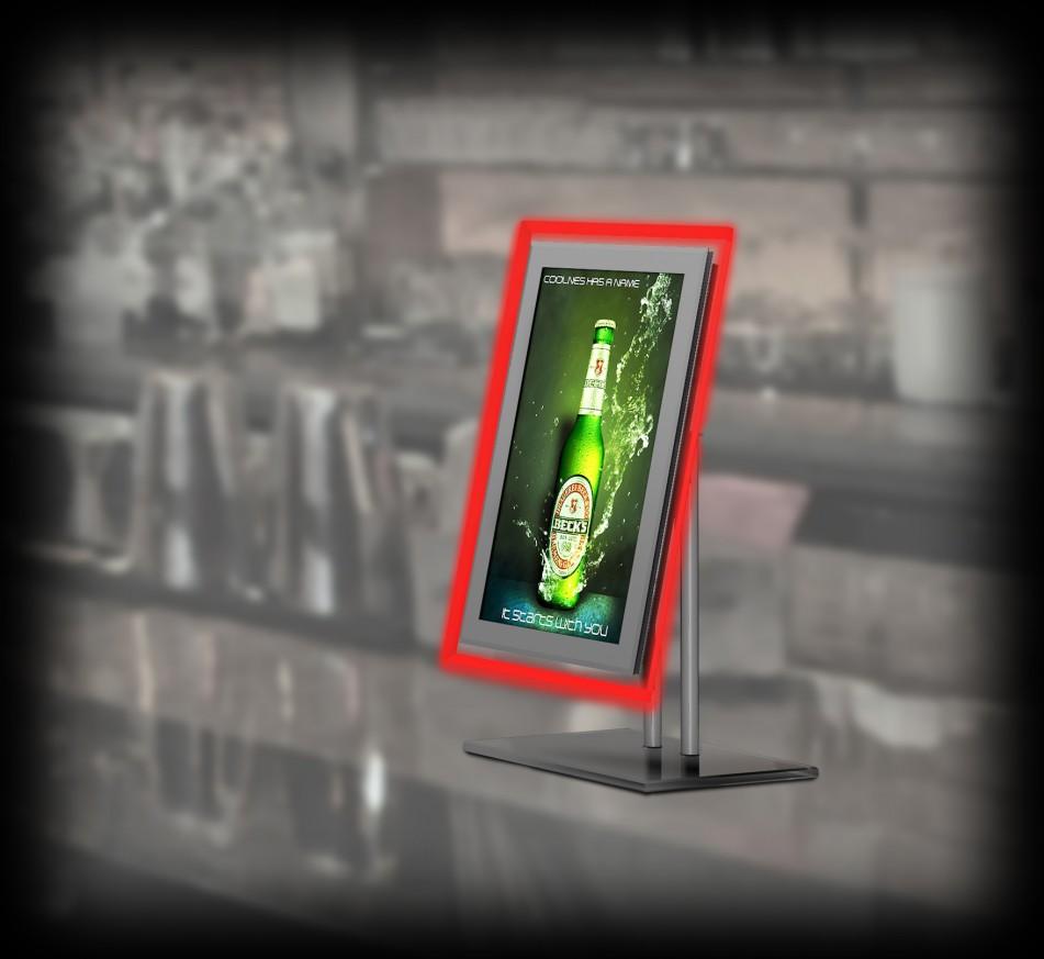 Рекламен екран Crystal LCD Display - на стойка